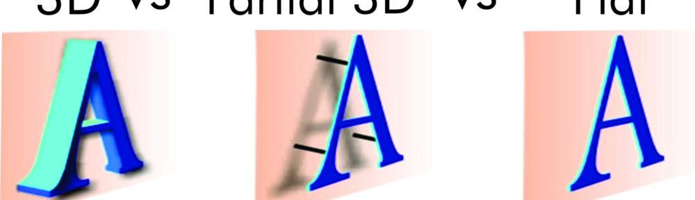3D vs Partial 3D vs 2D / Flat